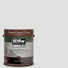 BEHR Premium Plus Ultra 1-gal. #BL-W13 Silver Polish Eggshell Enamel Interior Paint-275001 - The Home Depot