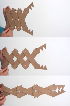 DIY cereal box monster jaws
