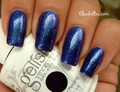 Chickettes.com: Gelish Caution & Izzy Wizzy for some added sparkle