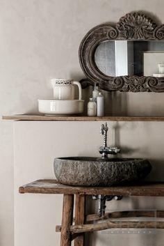 #bathroom stone trough