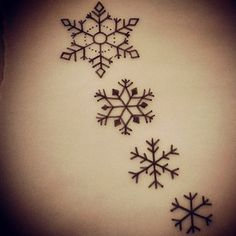 Getting the first & third snowflake tattoo to represent me accepting myself after all these years! :)