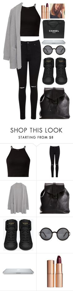 """""""Shopping and a Haircut"""" by juliapharris97 ❤ liked on Polyvore featuring Miss Selfridge, Margaret O'Leary, Chanel, Yves Saint Laurent, The Row, Charlotte Tilbury, Zoella and ZoeSugg"""