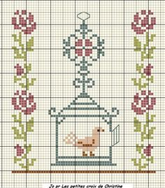 free bird in cage pattern