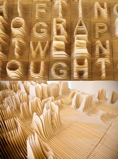 topographic typography by Caspar Lam and YuJune Park