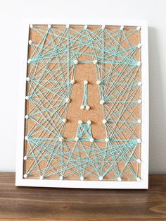 DIY Corkboard String Art! Such an easy and fun decor project! -- My Sister's Suitcase for Tatertots and Jello