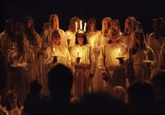 Lucia celebration in December every year