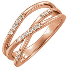 14K Rose 1/6 CTW Diamond Ring  #MyStullerStyle catalog page #295
