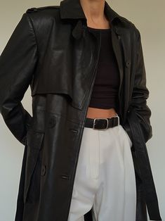 The Leather Trench Look Fashion, Fashion Outfits, Fashion Trends, Korean Girl Fashion, Fashion Bloggers, Fall Fashion, Vogue, Looks Black, Mode Chic