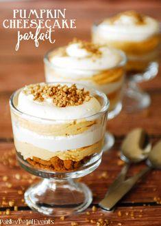 Pumpkin Cheesecake Parfait dessert