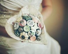 OMG this gorgeous piece of art is made out of doorknobs. DOORKNOBS! | 27 Breathtaking Alternatives To A Traditional Wedding Bouquet