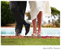 Wedding Photography: fun and cute photo and you have always got to get some shots of her shoes!