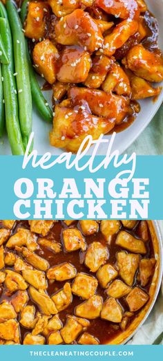 Skip the takeout & make this Healthy Orange Chicken Recipe for dinner! Paleo, gluten free + delicious - it's one of the best healthy chicken recipes! You can make it on the stove or in the instant pot. The sauce is the best part - you'd never know it's clean eating! Made with just a few simple ingredients, it's tasty and easy to make! #paleo #glutenfree #dairyfree #healthy Healthy Eating Recipes, Healthy Meal Prep, Clean Recipes, Healthy Cooking, Cooking Recipes, Dinner Healthy, Clean Eating Dinner Recipes, Clean Eating Chicken, Orange Chicken Recipes