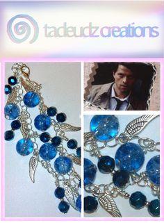 #Castiel #Supernatural inspired charm bracelet.
