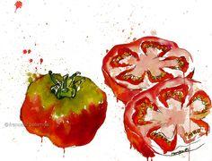 """""""temps de tomàquets"""" [watercolour - 31x41 cm.]  © francesc palomas"""