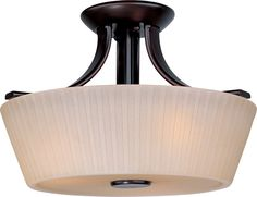 View the Maxim 21501 Finesse 3-Bulb Semi-Flush Mount Indoor Ceiling Fixture - Glass Shade Included at LightingDirect.com.