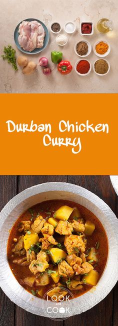 Durban chicken curry recipe (LC14309) This dish is bursting with Indian flavours. The gravy used here is made purely from Indian curry powder and spices. The joy of savouring this may be followed by runny nose and watery eyes. South African Recipes, Indian Food Recipes, Ethnic Recipes, Pesto Chicken, Chicken Curry, Curry Gravy Recipe, Look And Cook, Watery Eyes, Chicken Marsala