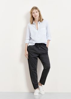 Pantalon coton chiné