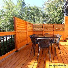 Cool Ideas, Patio Railing, Railings, Pool Deck Plans, Raised Patio, Privacy Walls, Brick Patios, Patio Lighting, Small Patio