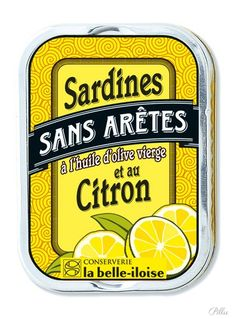 Sardines Au Citron /Conserverie La belle-iloise. #packaging #citron