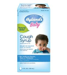 Coughs from colds have all sorts of personalities. There's the hoarse cough, the barking cough, the dry cough, the tickling cough. But they all share a common trait: they are painful to your baby. Our Hyland's Baby Cough Syrup relieves the harsh symptoms of coughing, and soothes your baby so she or he can rest and heal. Did we mention the taste? It's naturally sweetened and might even bring a smile to your baby's face. That's the second best kind of medicine.