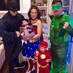 Pin for Later: The Best Celebrity Family Halloween Costumes Alyssa Milano and Her Family as Superheroes