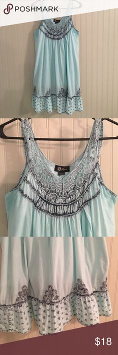 Super cute dress I love this dress! I've lost weight and it's too loose on me now. Bought in Charleston, SC. Only worn 2 times. Has built in slip. No flaws. Can be worn as a dress or bathing suit coverup. Shoulder to hem 37. Flower Dresses Mini