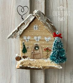 House Painting, Diy Painting, Woodworking Projects Diy, Diy Projects, Small Wooden House, Candy House, Arte Country, Timber House, Country Paintings
