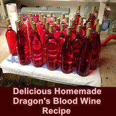 Delicious Homemade Dragon's Blood Wine Recipe - Homesteading  - The Homestead Survival .Com
