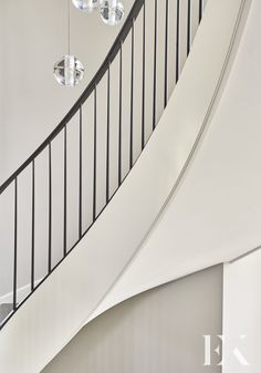 Functional and stylish family-home build. Modern and bright stairway design with sophisticated chandelier. Wrought Iron Handrail, Iron Handrails, Staircase Railings, Spiral Staircase, Stairs, Staircases, Staircase Design Modern, Modern Design, Luxury Interior