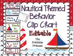 This is an editable Nautical themed behavior clip chart. The background on these clip charts is nautical themed. The colors (pink, purple, blue, . 3rd Grade Classroom, Classroom Behavior, Kindergarten Classroom, Future Classroom, Classroom Themes, Classroom Organization, Classroom Management, Sailing Classroom Theme, Sailing Theme
