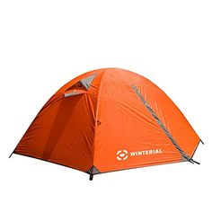 Winterial 2 Person Tent  Easy Setup Lightweight Camping and Backpacking 3 Season Tent  Compact * Visit the image link more details.