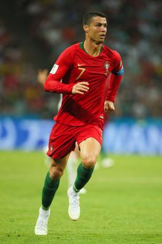 Cristiano Ronaldo of Portugal in action during the 2018 FIFA World Cup Russia group B match between Portugal and Spain at Fisht Stadium on June 2018 in Sochi, Russia. Get premium, high resolution news photos at Getty Images Cristiano Ronaldo Goals, Cristiano Ronaldo Wallpapers, Cristano Ronaldo, Ronaldo Juventus, Ronaldo Photos, Fc Chelsea, European Soccer, Best Football Players, Tottenham Hotspur