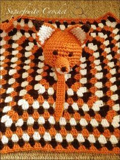 Free pattern. Fox lovey comforter blankie  Superfruity Crochet: That's fantastic, little Mr Fox