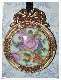 Small Framed Limoge Porcelain Plaque | Trade Me