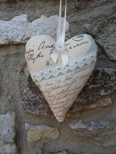 Lavendar scented hanging heart