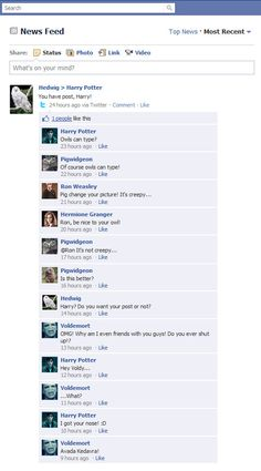 If Harry Potter had Facebook... lol