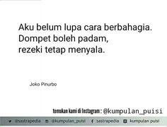Puisi pendek. Joko Pinurbo.