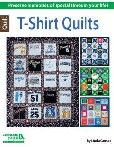 Leisure Arts - T-Shirt Quilts eBook, $9.99 (http://www.leisurearts.com/products/t-shirt-quilts-ebook.html)