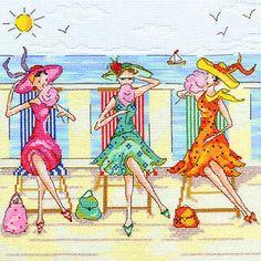 Ladies Who Lunch - Dessert Alfresco Cross Stitch Kit by Bothy Threads