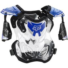 Fox Racing R3 Youth Boys Roost Deflector Motocross Motorcycle Body Armor - Blue / Small