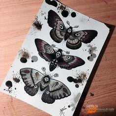бабочка мертвая голова тату - Google zoeken