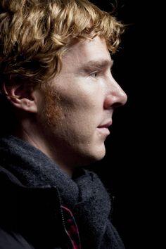 Benedict Cumberbatch and his sideburns. Love