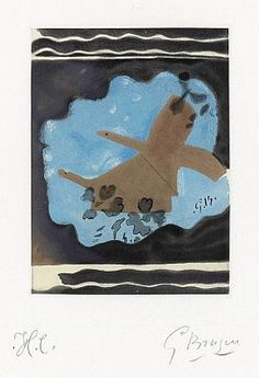 Migration, 1962, a hand-signed color etching by Georges Braque at Masterworks Fine Art Gallery.
