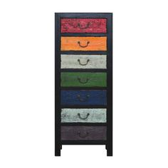 Oriental 7 Drawer Chest Multi - The Importer - Furniture and Homewares