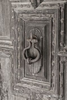 Gray antique door