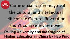 """Peking University and the Origins of Higher Education in China by Hao Ping Renowned as one of the most distinguished universities in the world, Peking University (PKU or, colloquially, """"Beida"""") has been at the forefront of higher education in China since its inception. Its roots arguably date to the origin of Chinese higher education. Hao Ping traces the intricate evolution of the university, beginning with the preceding institutions that contributed to its. . .Order your copy today!"""