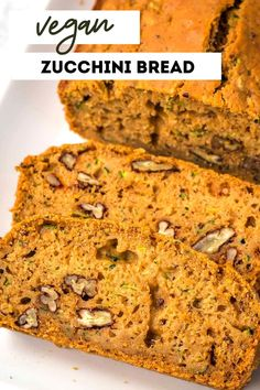Super easy and moist vegan zucchini bread! Add in nuts or chocolate chips for extra deliciousness. No need to squeeze out excess liquid from the zucchini with this recipe.