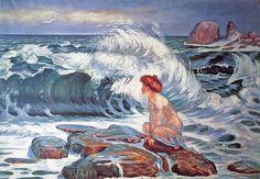"Frantisek Kupka (Czech, 1871-1957) - ""The Wave"", 1902"