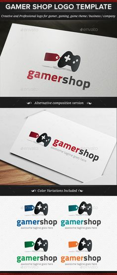 Gamer Shop Game Gaming Logo Template - Objects Logo Templates