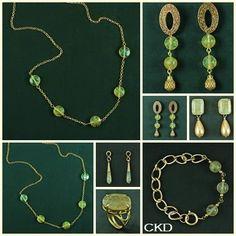 Brincos, colares, pulseiras e anéis com cristais de inclusão! www.ckdsemijoias.com.br